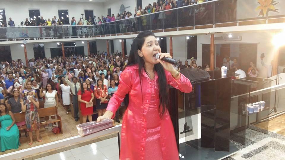 Rosilene Martins em um dos congressos no Estado do Pará