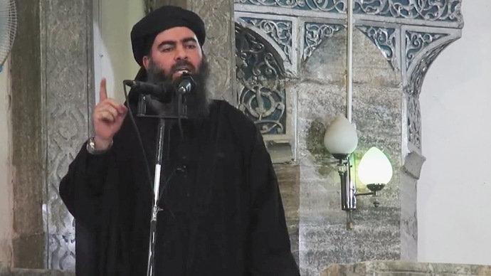 Imagem tirada de um vídeo mostra o líder do grupo jihadista Estado Islâmico do Iraque e do Levante, Abu Bakr al Baghdadi(AP/VEJA)