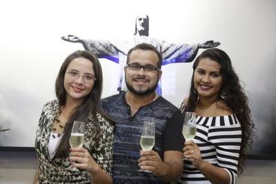 Yasmin, Leandro e Thais   Marcelo Carnaval