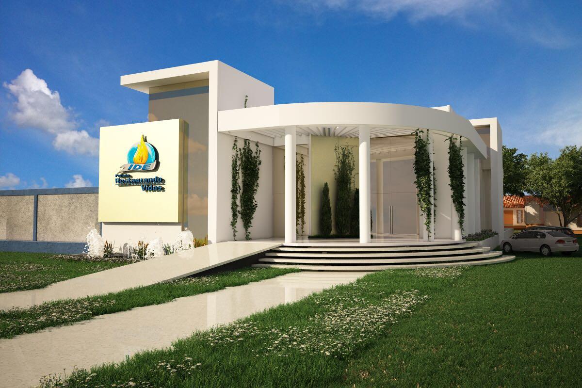 Fachada do futuro templo