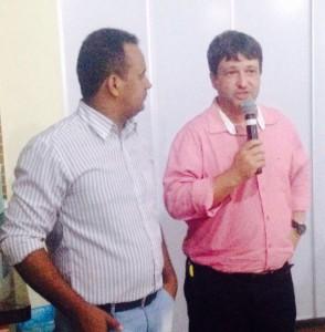 Márcio Neres e o pré-candidato a Prefeito, Fabiano Parafuso