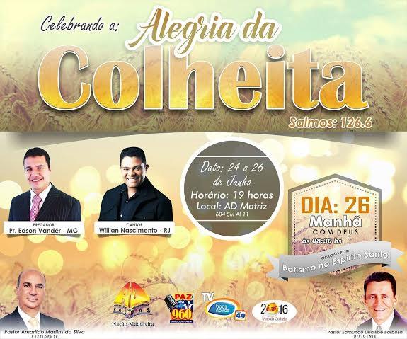 """Nação Madureira traz Willian Nascimento e pastor Edson Vander para """"Grande Celebração da Colheita"""""""
