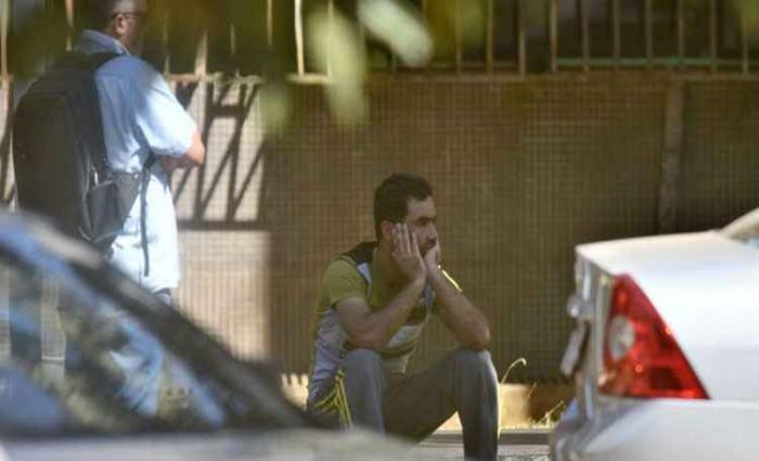 Rashad na frente da PF: de Maria da Penha a suposto terrorista. Foto: Ed Alves/CB/D.A Press