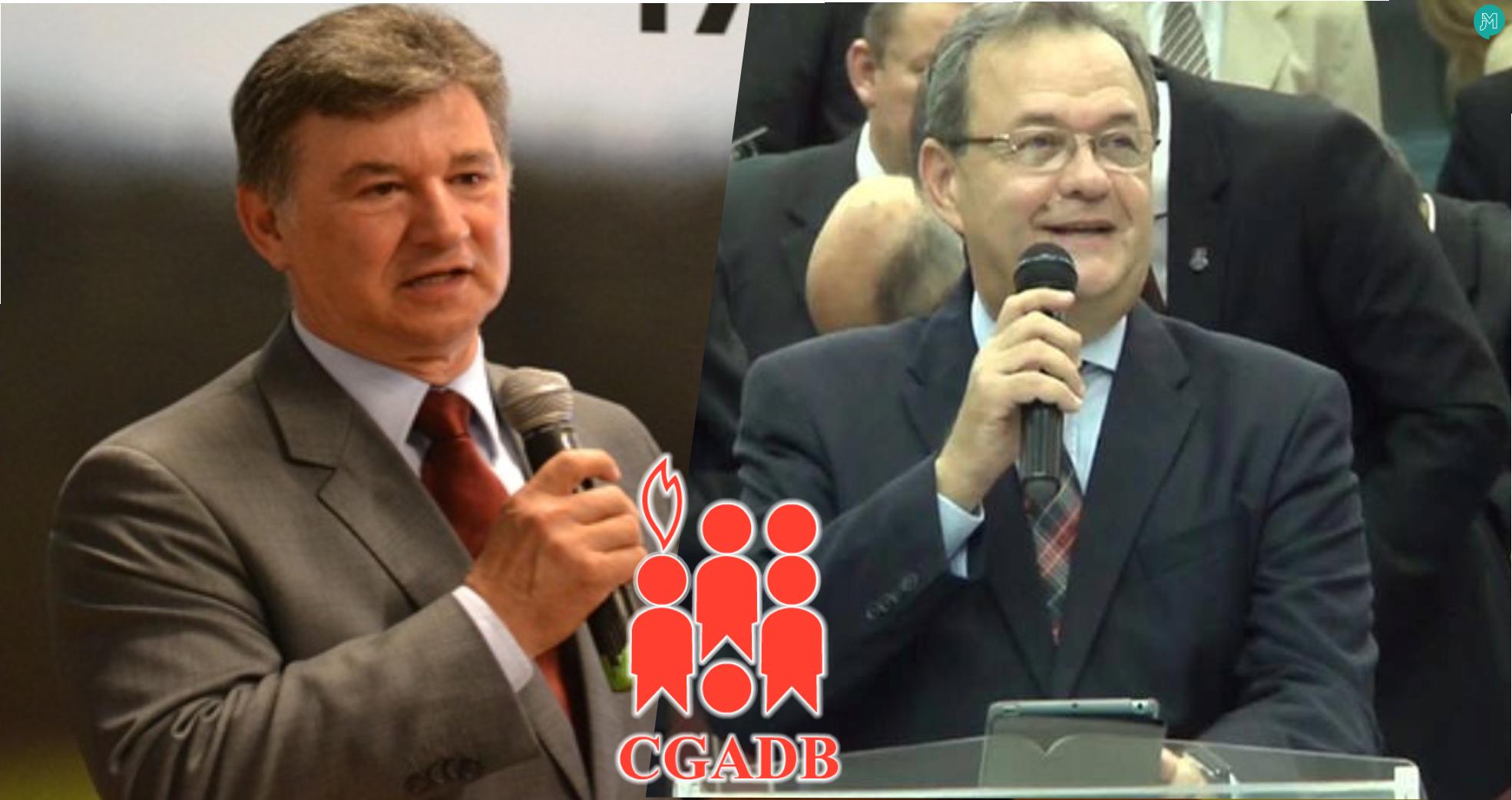 Pastores José Wellington Junior e Samuel Câmara, atuais pré-candidatos à presidência da CGADB