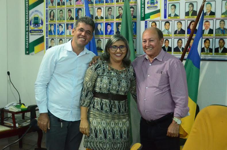 Além de membros da sociedade civil, estava presente no evento o presidente da Câmara de Vereadores da cidade, Kedson Brito,