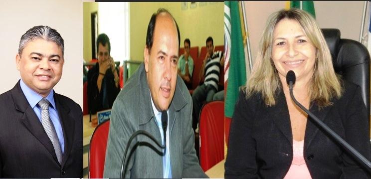 Vereador Neto Pajeu (PDT), Gipão (PR), e Rejane (PSD)