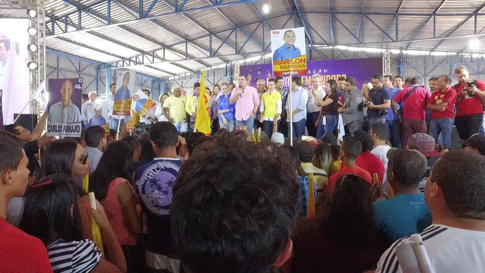 """Coligação """"Palmas bem cuidada"""" realiza convenção e homologa Amastha e Cínthia Ribeiro"""