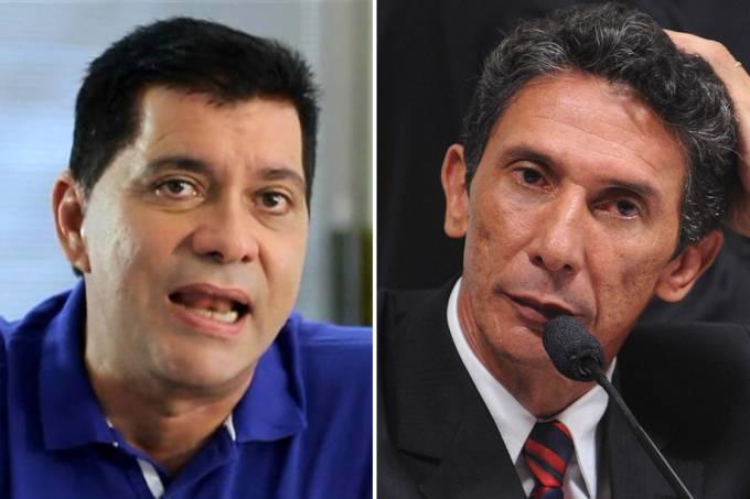 Os candidatos à Prefeitura de Palmas, Carlos Amastha e Raul Filho (Wilson Dias/ABr/Reprodução)