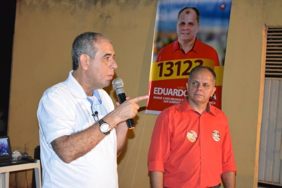 Na ocasião, o candidato falou que uma de suas propostas é dividir a cidade em território