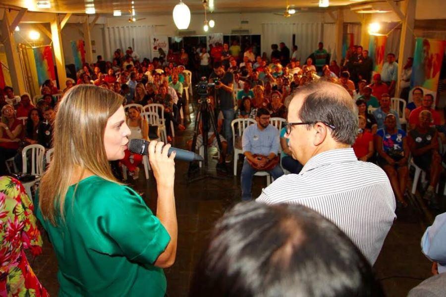 , Eli Borges (PROS), afirmou que está com Claudia porque conhece a história da candidata e tem certeza que ela fará o enfrentamento necessário para mudar a realidade que Palmas