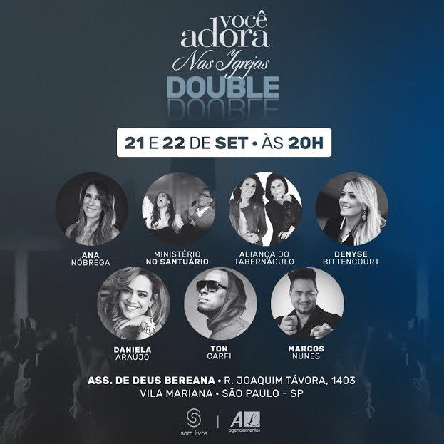 """Som Livre realiza """"Você Adora nas Igrejas Especial Double"""" em São Paulo"""