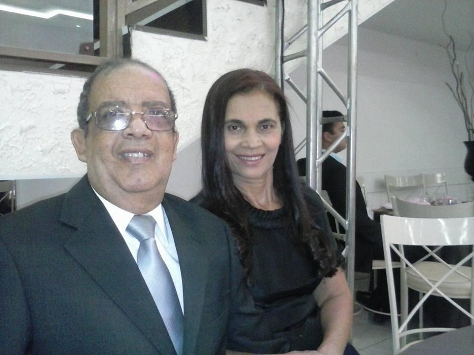 Pastor Ederme José e sua esposa, irmã Cleonice Veras