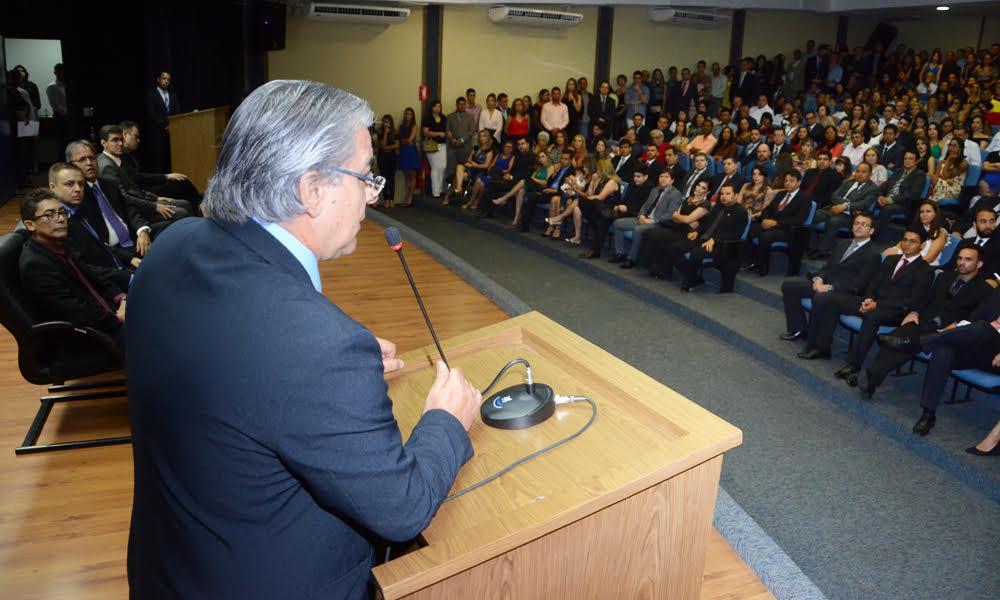 O secretário de Estado da Segurança Pública, César Simoni de Freitas, destacou a qualidade do grupo que conclui os cursos e a importâncias desses novos profissionais para o Tocantins --