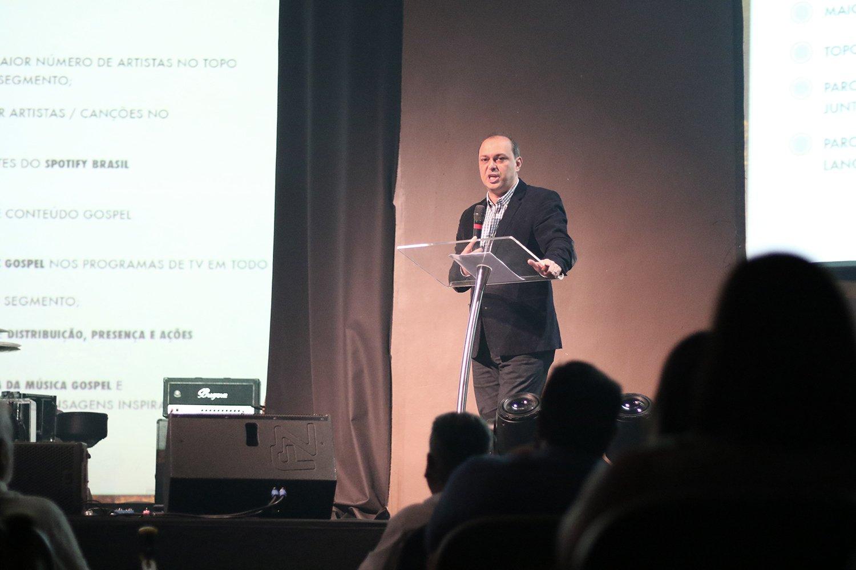 Maurício Soares, diretor da Sony Music Gospel no Brasil. (Foto: Guiame/Marcos Paulo Correa)