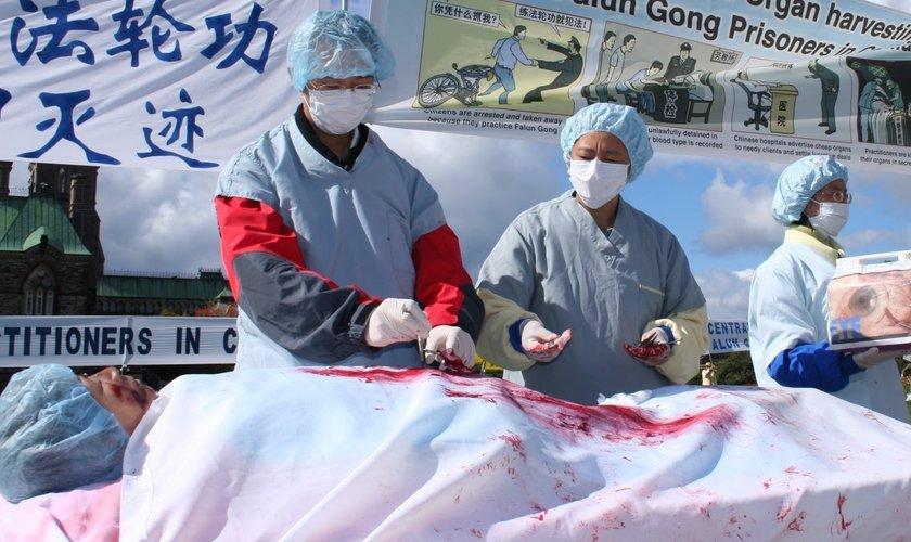 Médicos chineses foram denunciados por envolvimento na coleta forçada de órgãos. (Imagem: Youtube)