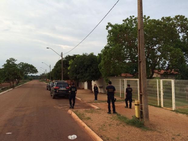 Polícia Federal faz coletiva em Palmas (Foto: Mazim Aguiar/TV Anhanguera)