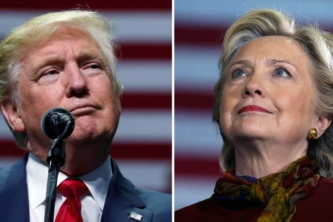 Hillary Clinton, do Partido Democrata, e Donald Trump, do Partido Republicano (Reuters)