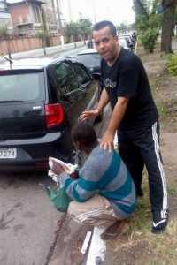 Marco Lima fazendo evangelização Foto: Reprodução/Facebook