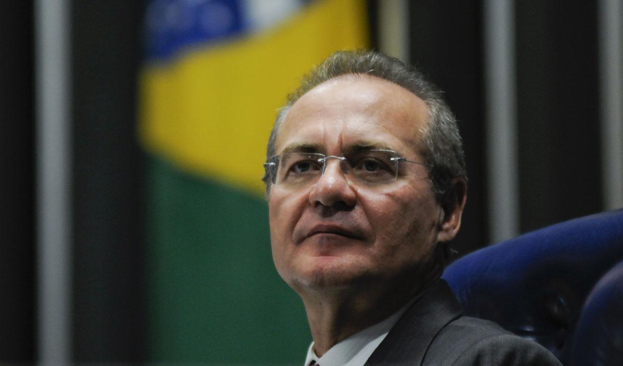 Presidente da sessão, Presidente do Senado, senador Renan Calheiros (PMDB-AL)