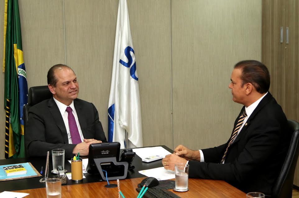 Foto: Ataídes Oliveira e o ministro da saúde, Ricardo Barros