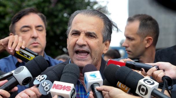Silas Malafaia chega para depor na Polícia Federal em SP (Crédito: Marcos Alves /