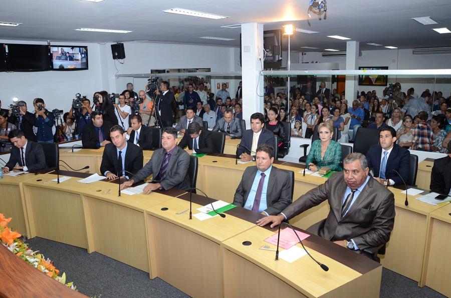 Durante votação da nova Mesa Diretora da Câmara de Palmas
