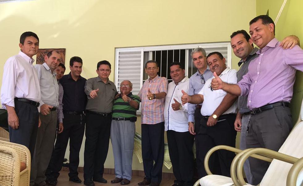 Lideranças da Comadesma visitam ex-presidente da Convenção Ciadseta, pastor Pedro Lima, em Palmas