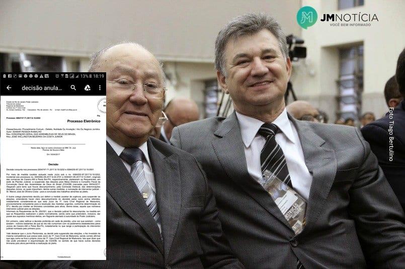 Juiz suspende eleições da CGADB e determina multa de R$ 500 mil em caso de
